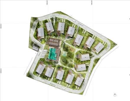 CONDOMINIO: Casas de estilo tropical por SUPERFICIES Estudio de arquitectura y construccion