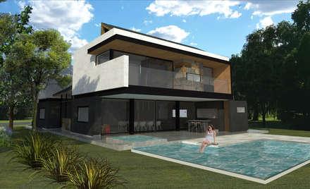 : industrial Houses by Di Gaeta-Marrón Arquitectos