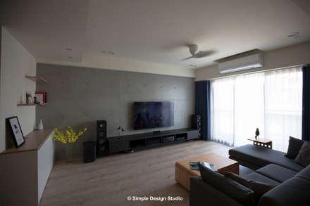 新竹-春福若隱-北歐極簡風格【Simple Nordic】:  客廳 by 極簡設計有限公司