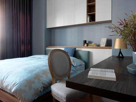   L&C 住宅  :  臥室 by 賀澤室內設計 HOZO_interior_design