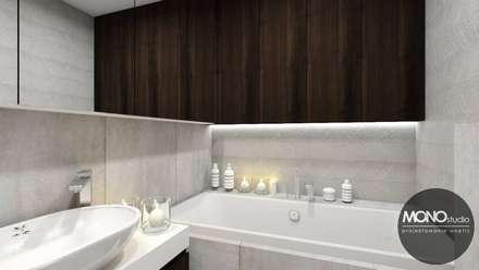 Łazienka w minimalistycznym klimacie: styl , w kategorii Łazienka zaprojektowany przez MONOstudio
