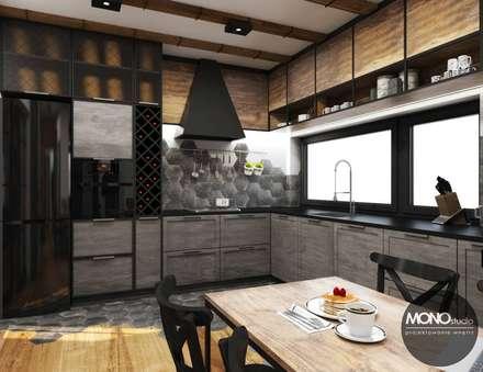 Kuchnia w klimacie industrialnym: styl , w kategorii Kuchnia zaprojektowany przez MONOstudio