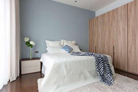  坤山TC宅 :  臥室 by 賀澤室內設計 HOZO_interior_design