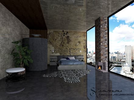 SametKaya İç Mimarlık – LUXURY YATAK ODASI TASARIMI: modern tarz Yatak Odası