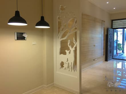 scandinavian Dining room by 鹿敘空間設計