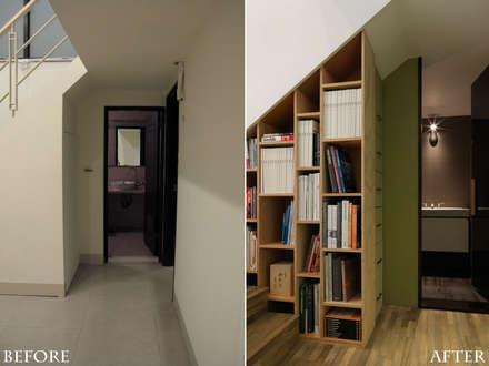 森屋 |before&after|:  牆壁與地板 by 賀澤室內設計 HOZO_interior_design