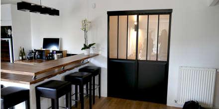 Maison M.F: Cuisine de style de style Moderne par Ophélie Dohy architecte d'intérieur