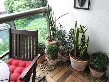 Apartamento São Clemente: Jardins rústicos por Priscila Boldrini Design e Arquitetura