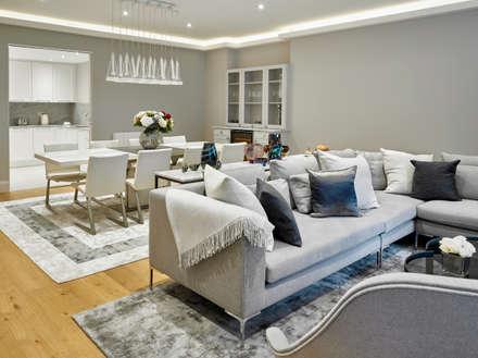 Living & Dining Room: modern Dining room by Morph Interior Ltd