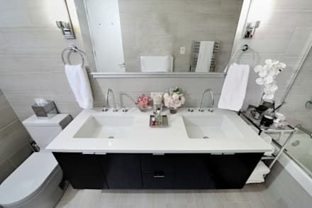 Apartment Remodel on West 52nd St.: minimalistic Bathroom by KBR Design and Build