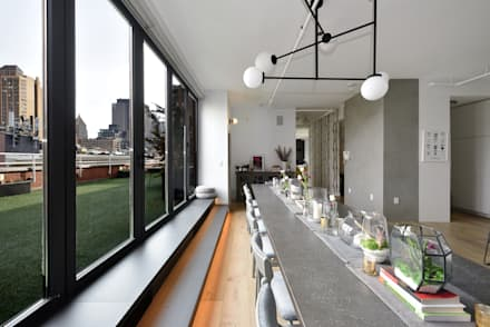 Renovation at 7 Wooster: modern Dining room by KBR Design and Build