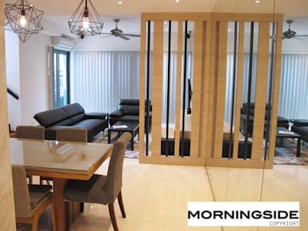 THOMSON ROAD PENTHOUSE CONDO UNIT: modern Dining room by MORNINGSIDE PTE LTD