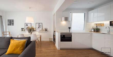 cocina americana salones de estilo mediterrneo de slvr estudio - Decoracion Interiores