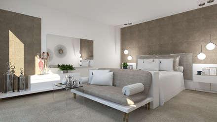 Suite: Quartos modernos por 4Ponto7
