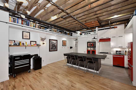 Renovation at 29 Tiffany : industrial Dining room by KBR Design and Build