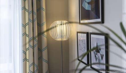 Pièce à vivre : Douceur géométrique : Salle à manger de style de style Moderne par Bleu Cerise