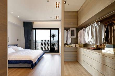 作品十號德鑫v1:  臥室 by 沐設計