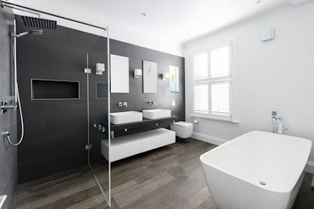 Disraeli Road, Putney: minimalistic Bathroom by Grand Design London Ltd