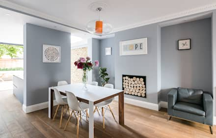 Oliphant street queens park rustic dining room by grand design london ltd