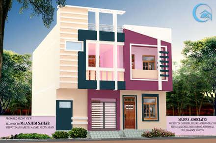 EXTERIOR VIEWS: Modern Houses By MADINA ASSOCIATES
