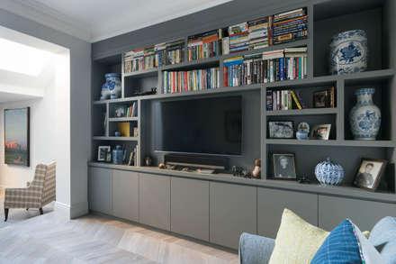 Dorlcote Road, Wandsworth: modern Media room by Grand Design London Ltd