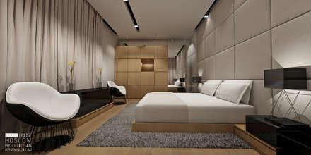 ÖZHAN HAZIRLAR İÇ MİMARLIK – YATAK ODASI: minimal tarz tarz Yatak Odası