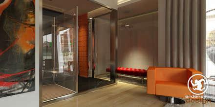 Erden Ekin Design – 4+1 Yatak Odası Giyinme Bölümü: modern tarz Giyinme Odası