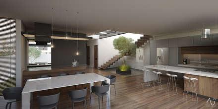 Vista Interior: Cocinas de estilo minimalista por 21arquitectos