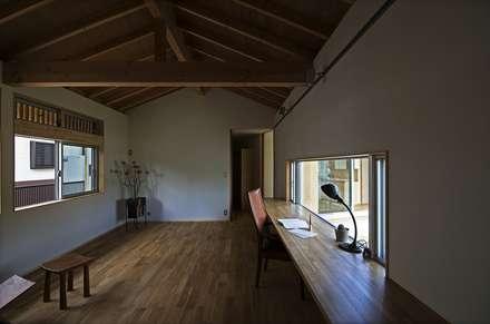 tpes: 岡本和樹建築設計事務所が手掛けた書斎です。