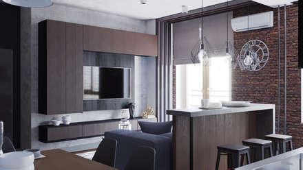 кухня-гостиная: Гостиная в . Автор – EEDS Interior design studio