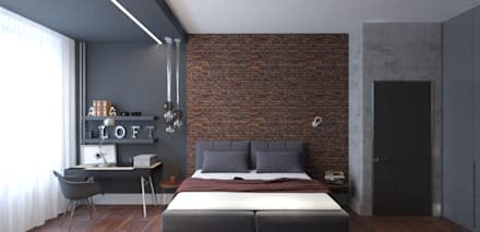 industrial Bedroom by EEDS design
