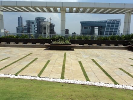 flooring pattern:  Commercial Spaces by Land Design landscape architects