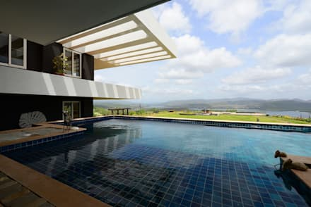 11 K-Waks: modern Pool by Studio K-7 Designs Pvt. Ltd