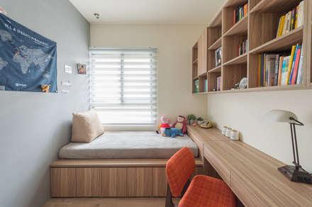 ห้องทำงาน/อ่านหนังสือ by 齊禾設計有限公司