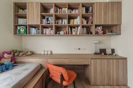 scandinavian Study/office by 齊禾設計有限公司
