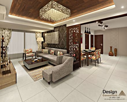 Living And Dining Area: Asian Living Room By Design Consultant