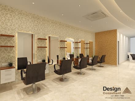 The Glam Salon Styling Station :  Commercial Spaces by Design Consultant