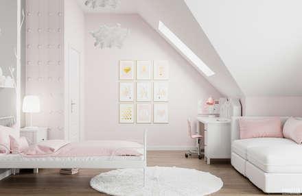 Projekt wnętrz domu jednorodzinnego w Krakowie: styl , w kategorii Pokój dziecięcy zaprojektowany przez PRØJEKTYW | Architektura Wnętrz & Design