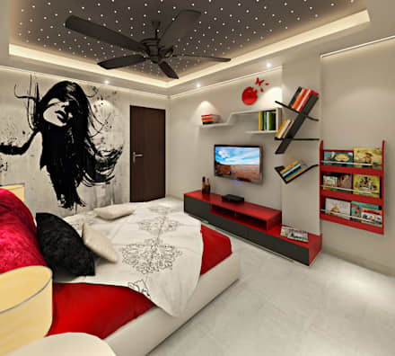 Merveilleux 3BHK Flat Interior Design And Decorate At Alwar: Asian Nursery/kidu0027s Room  By Design