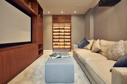 Cinema Room with Bespoke Joinery: classic Media room by Adventure In Architecture