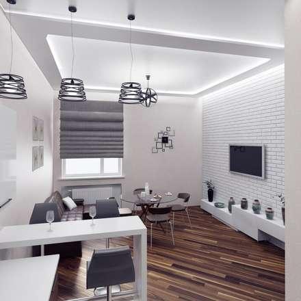 Гостиная-кухня: Гостиная в . Автор – Anastasia Yakovleva design studio