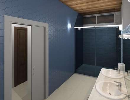 baño de la hab principal: Baños de estilo minimalista por Diseño Store