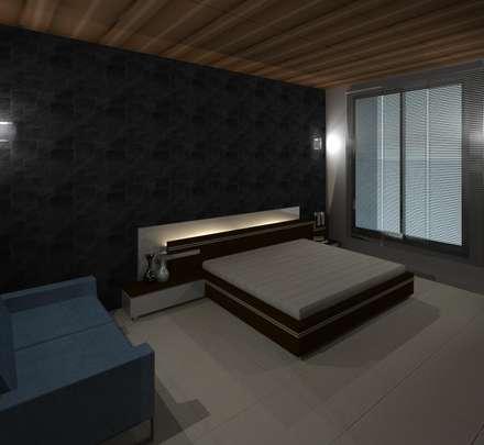 vista interna habitación principal: Cuartos de estilo minimalista por Diseño Store