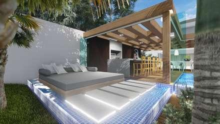 Spa de estilo moderno por Adriane Cequinel Varella Arquitetura