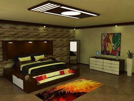 Remodelación de Habitación: Cuartos de estilo moderno por AID Kailos C.A.