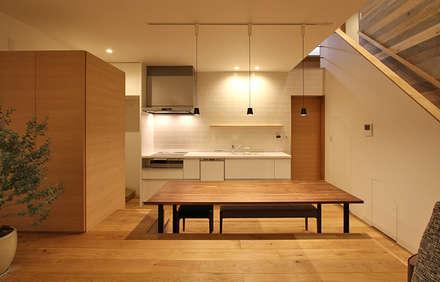 宮永市町の家: 福田康紀建築計画が手掛けたダイニングです。