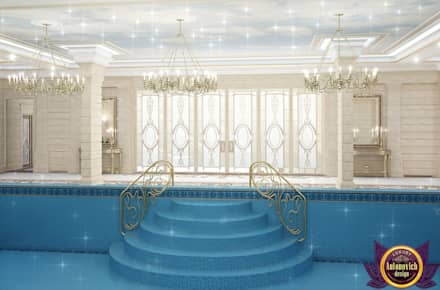 Pool Design of Katrina Antonovich, Paradise Oasis in Your Own Home: classic Pool by Luxury Antonovich Design