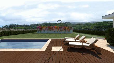Piscina: Piscinas minimalistas por FL  Arquitecto
