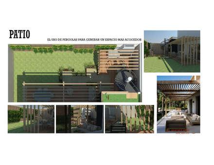 INTERIORISMO DE UNA VIVIENDA UNIFAMILIAR: Jardines de estilo moderno por Arq. Marynes Salas