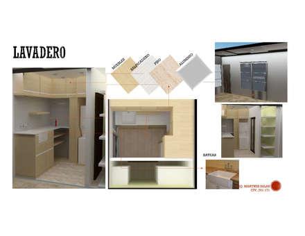 INTERIORISMO DE UNA VIVIENDA UNIFAMILIAR: Anexos de estilo moderno por Arq. Marynes Salas